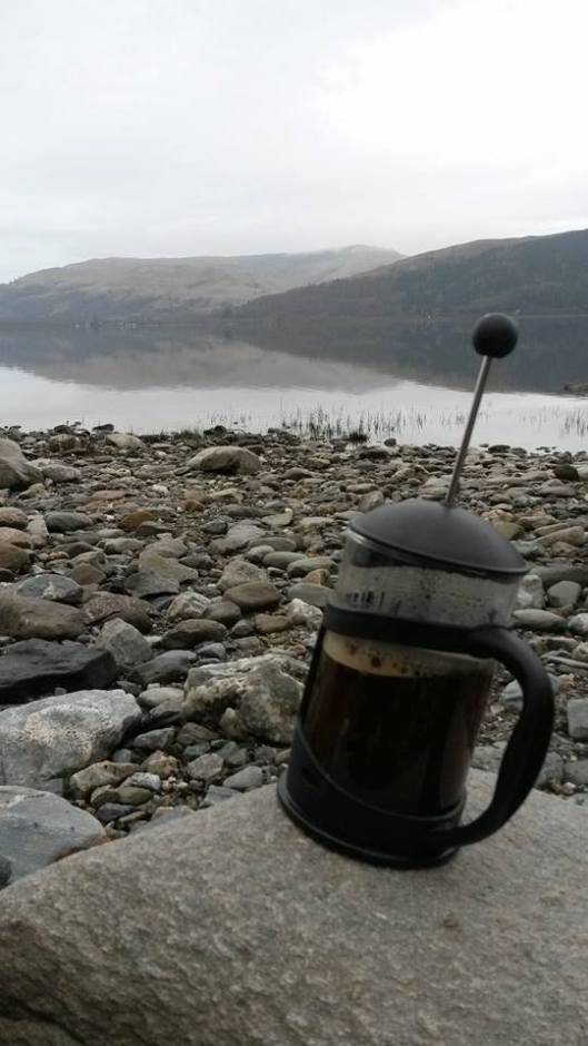 Coffee on the banks of Loch Lomond
