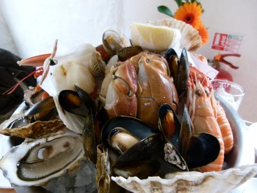 Loch Fyne Oyster Bar seafood platter